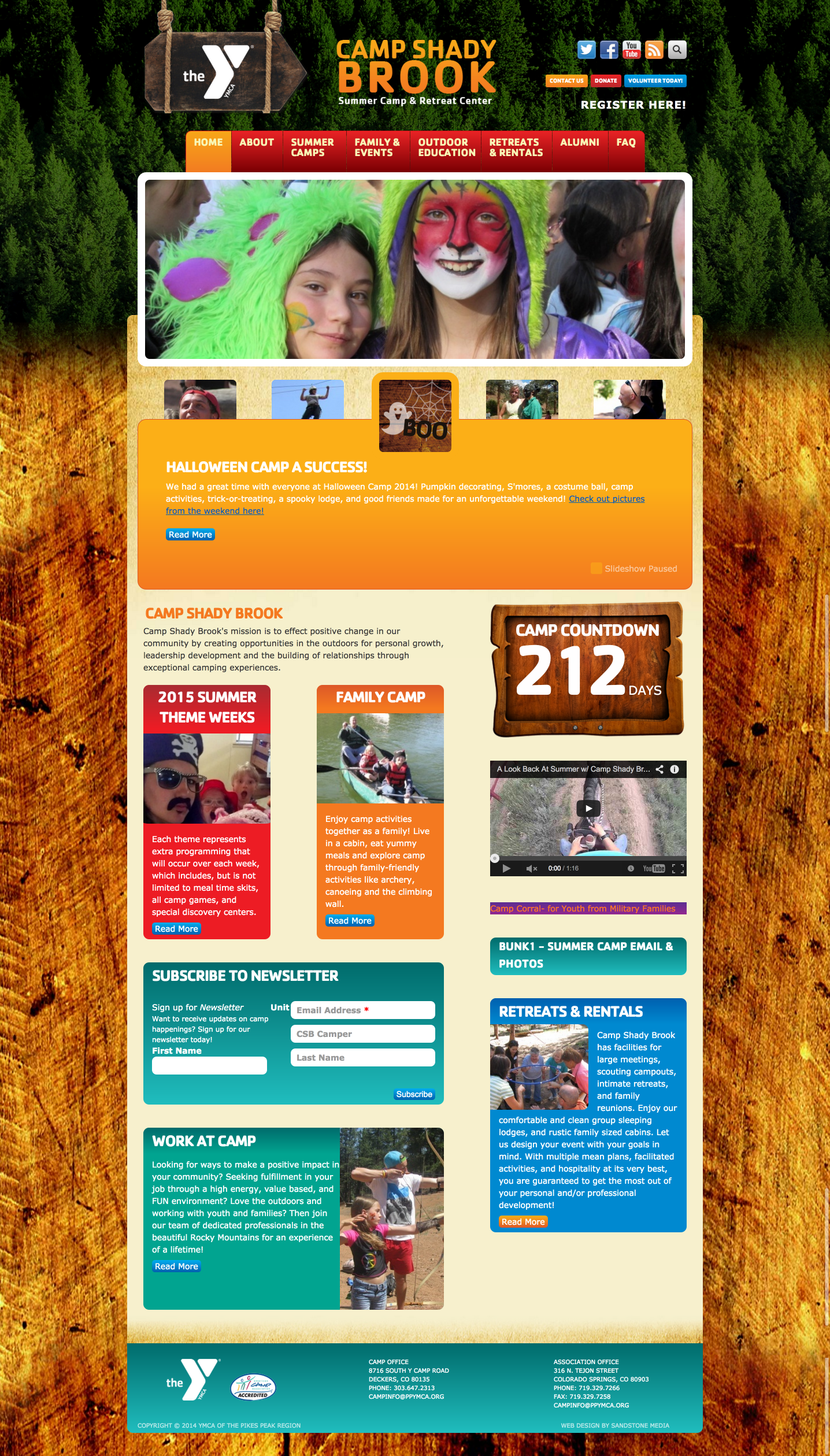 Website - Camp ShadyBrook