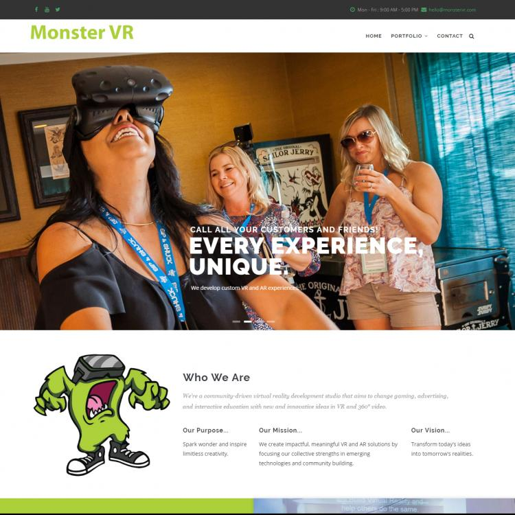 Monster VR website